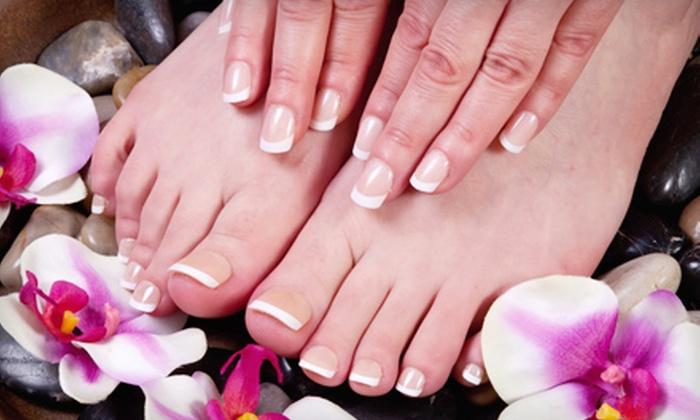 The Studio Exhale - Thousand Oaks: Express Manicure or Signature Manicure and Pedicure at Leona Skin Spa