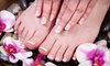 Exhale Face & Body at Revolution Fitness - Thousand Oaks: Express Manicure or Signature Manicure and Pedicure at Leona Skin Spa