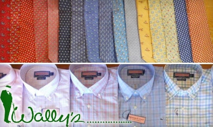 Wally's Menswear - West Austin: $25 for $50 Worth of Apparel at Wally's Menswear