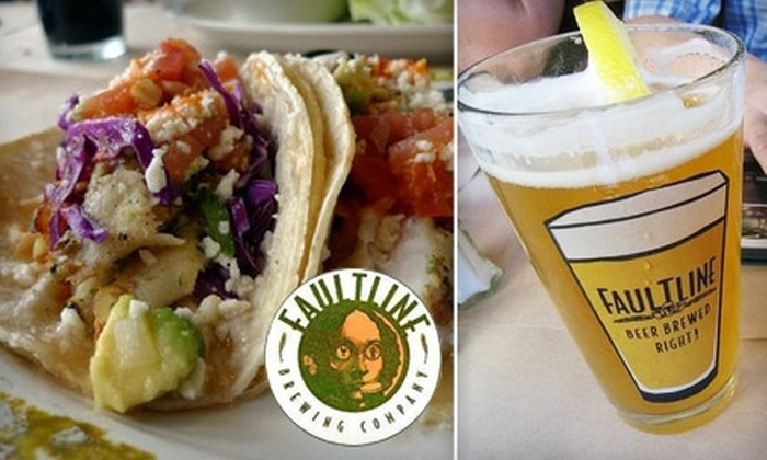 Faultline Brewing Company - Sunnyvale: $20 for $40 Worth of Microbrews, Fresh Fish, Steak, and More at Faultline Brewing Company
