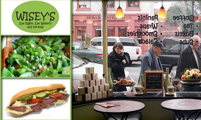 Wisey's - Georgetown: $10 for $20 Worth of Gourmet Cafe Sandwiches and Salads at Wisey's