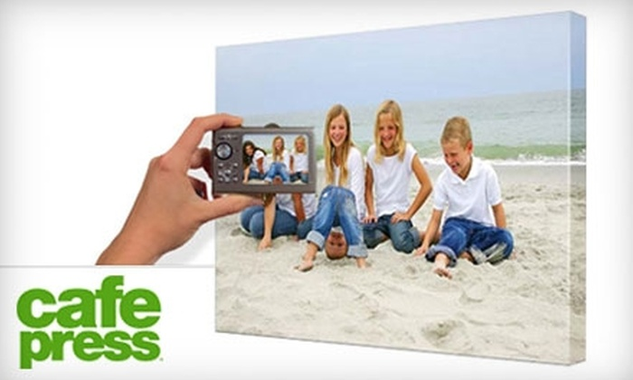 "CafePress.com: $39 for a 16""x20"" Personalized Canvas Plus Shipping from CafePress ($99.99 Value)"