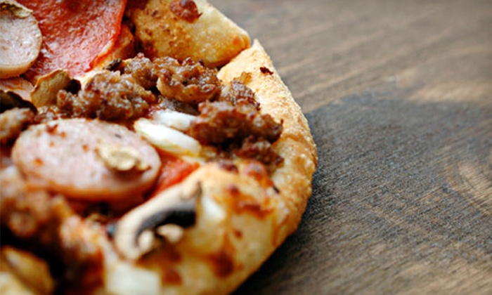 The Nicollet - Downtn Minneapolis,Greater Central,Hennepin and Lake,Stevens Square,Whittier: Large Pizza Meal with Two Drinks or Five-Café-Drink Punch Card at The Nicollet (Up to 52% Off)