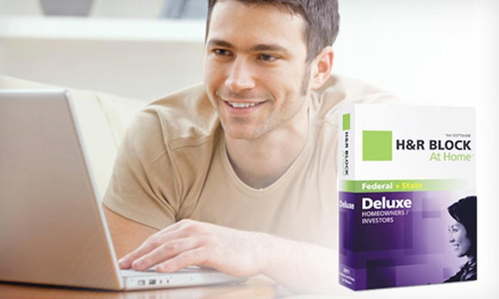 H&R Block Tax-Return Software: $20 for H&R Block At-Home Deluxe Software for Federal and State Tax Returns ($44.95 Value)
