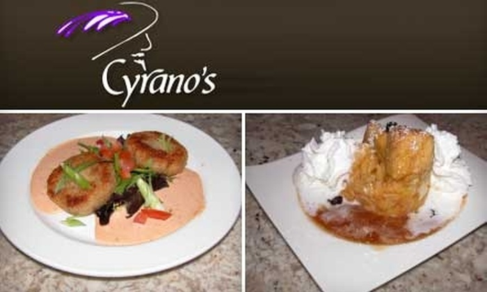 Cyrano's - Webster Groves: $10 for $20 Worth of Gourmet Appetizers, Desserts, and Drinks at Cyrano's