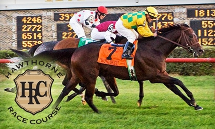 Hawthorne Race Course - Stickney: $20 for Admission, Simulcast Programs, $25 Worth of Refreshments, and Two $5 Bets at Hawthorne Race Course ($39.50 Value)