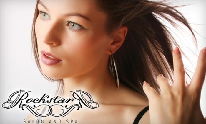Rockstar Salon and Spa - Roselle: Brazilian Blowout or a Mani-Pedi, European Facial, and Head/Neck/Shoulder Massage at Rockstar Salon and Spa