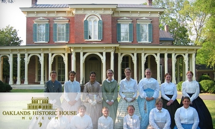 Oaklands Historic House Museum - Murfreesboro: $10 for Two Tour Passes Plus Tea and Tea Cakes at Oaklands Historic House Museum in Murfreesboro