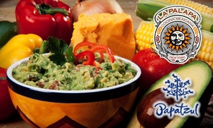 Sabores Authentic Mexican Restaurant Week - Multiple Locations: $25 for $50 Worth of Mexican Cuisine at La Palapa or $12 for $25 Worth of Mexican Cuisine at Papatzul