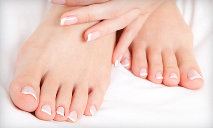 La Chica Salon and Spa - Moon Township: Spa Mani-Pedi or Keratin Hair Treatment at La Chica Salon and Spa in Moon Township (Up to 67% Off)
