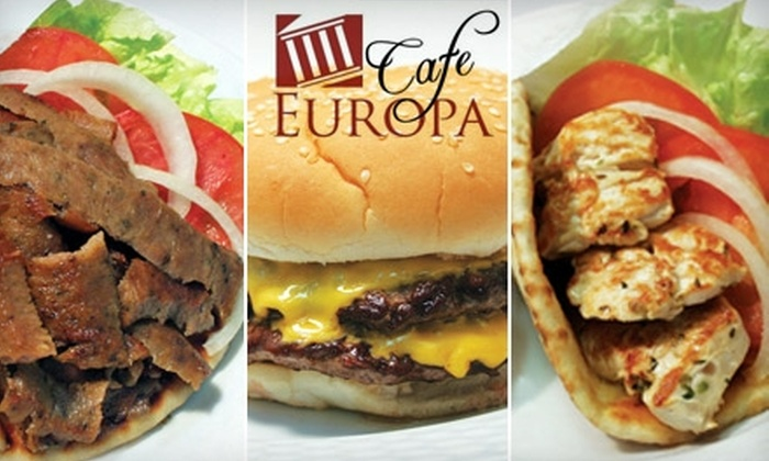 Café Europa - Arden - Arcade: $5 for $10 Worth of Greek and American Fare and Drinks at Café Europa