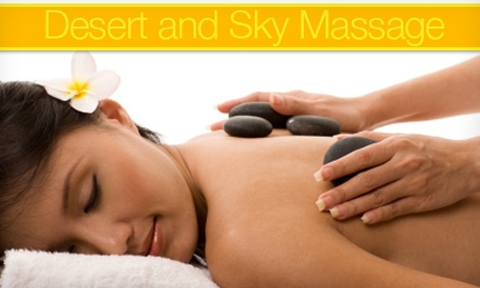 Desert and Sky Massage Therapy - Nob Hill: $50 for a 90-Minute Hot-Stone Massage or Hot-Towel Treatment at Desert and Sky Massage Therapy ($100 Value)