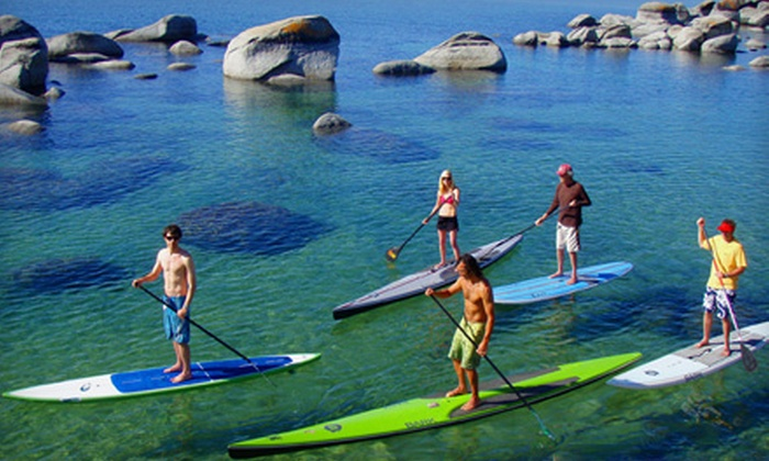 Tahoe Paddle & Oar - Downtown Kings Beach: $50 for a 90-Minute Standup-Paddleboard Lesson at Tahoe Paddle & Oar in Kings Beach ($100 Value). Four Dates Available.