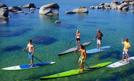 90-Minute Standup-Paddleboard Lesson on Wed., Sept. 7 at 8 AM (a $100 Value) - Tahoe Paddle & Oar in Kings Beach