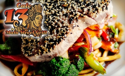 $30 Groupon to Cafe 13 Main Street Grill - Cafe 13 Main Street Grill in Cambridge