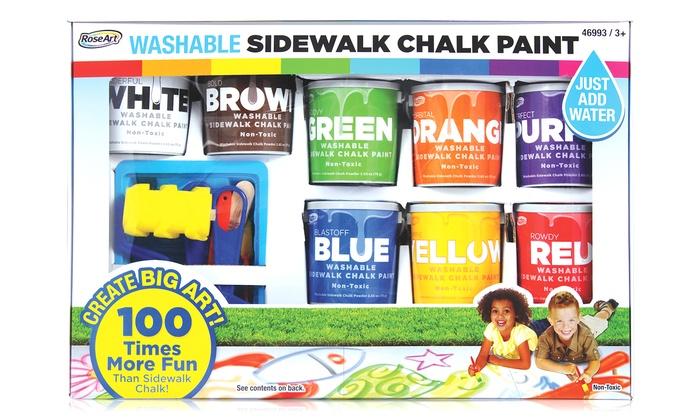 Washable Sidewalk Chalk Paint Kit: Washable Sidewalk Chalk Paint Kit (14-Piece)