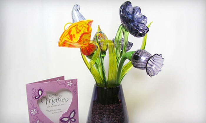 Uptown Glassworks - Industrial District East: Blow-Your-Own Glass Flower or Bouquet of Six Flowers at Uptown Glassworks in Renton (Up to 52% Off)