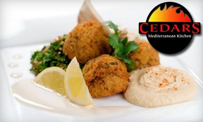 Cedars Mediterranean Kitchen - Hyde Park: $10 for $20 Mediterranean Fare at Cedars Mediterranean Kitchen ($10 for $25 if Redeemed Monday-Thursday)