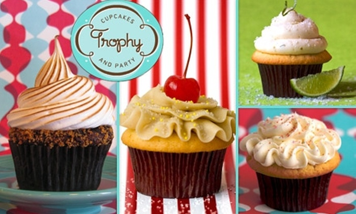 Trophy Cupcakes and Party - Multiple Locations: $15 for One Dozen Cupcakes at Trophy Cupcakes and Party ($33 Value)
