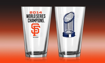 2-Pack of San Francisco Giants 2014 World Series Champions Pint Glasses