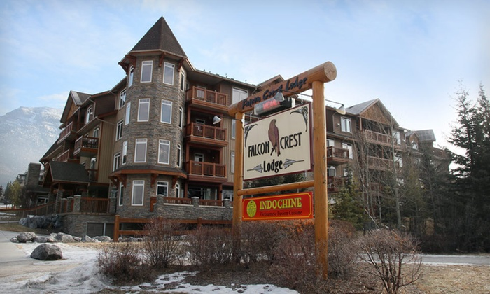 Falcon Crest Lodge - Canmore: Two- or Three-Night Stay for Four and a Massage at Falcon Crest Lodge in Canmore, Alberta