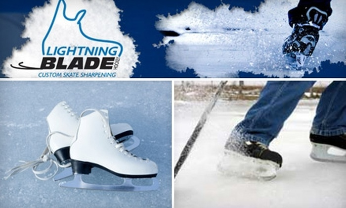 Lightning Blade - Ledbury - Heron Gate - Ridgemont - Elmwood: $9 for Three Ice-Skate Sharpenings at Lightning Blade