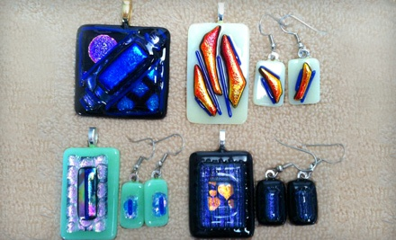 Dichroic Glass Jewelry Class for One (a $35 value) - The Glass Cat in Spring