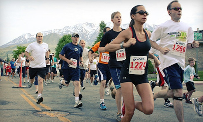 Run13 - Arts Park: Provo City 5K, Half Marathon, Two-Person Relay, or Marathon Registration on May 5 from Run13 (Up to 54% Off)