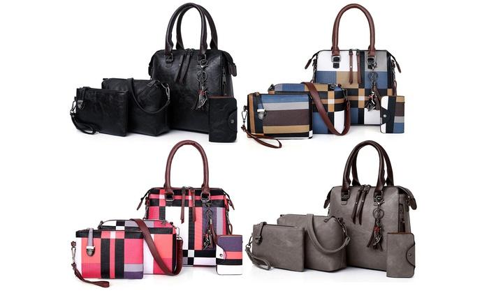 4er Set Damen Handtaschen in Leder Optik in der Farbe nach Wahl