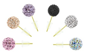 *limited Time Only Price Reduction* 14k Gold Swarovski Elements Ball Studs