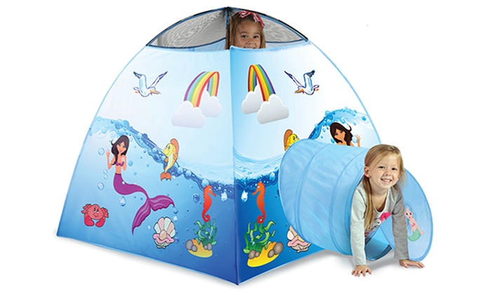 ... Kidsu0027 Racecar or Mermaid Tent with Carrying Case Kidsu0027 Racecar or Mermaid Tent ...  sc 1 st  Groupon & Kidsu0027 Racecar or Mermaid Tent with Carrying Case | Groupon