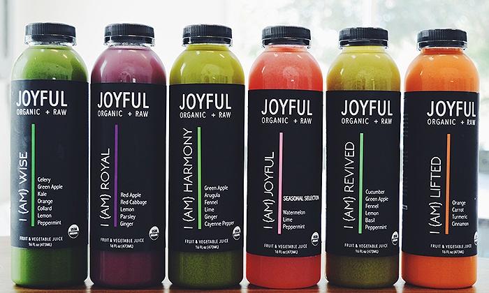 Joyful Juicing - North Naples: $21 for Three Groupons, Each Good for $10 Worth of Juice at Joyful Juicing ($30 Value)