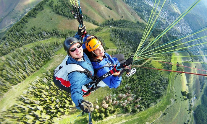 Fly Sun Valley - Ketchum: $275 for One Tandem Paragliding Flight and Video at Fly Sun Valley ($340 Value)