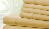 Microfiber Merit Linens Bed Sheets Sets (6-Piece) Twin Deals