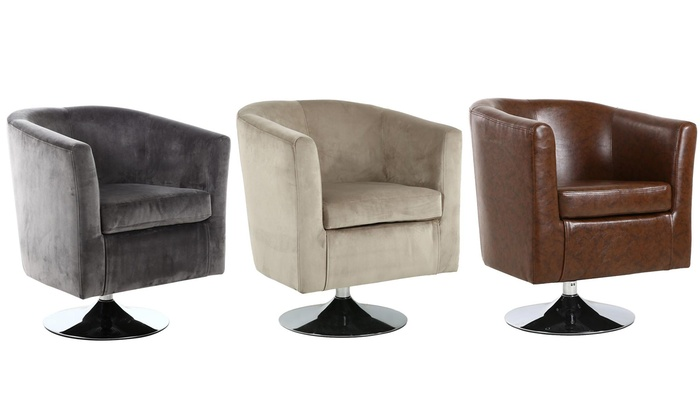 Strange Swivel Tub Chair Groupon Gmtry Best Dining Table And Chair Ideas Images Gmtryco