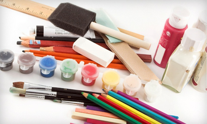 Pick & Paint Pottery Shop - Cumberland Mills: Paint-Your-Own-Pottery and Art Supplies at Pick & Paint Pottery Shop in Westbrook (Half Off). Two Options Available.