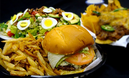 Two-Course American Comfort Food Meal with Sodas for Two or Four at Volcano's Burger and Salads (Up to 52% Off)