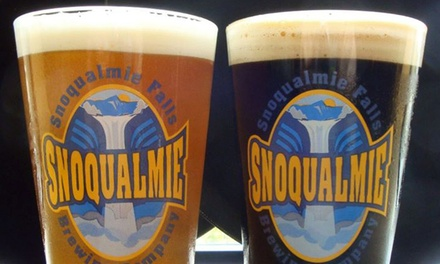 Two Pints and One Refillable Growler for Two at Snoqualmie Brewery and Taproom (Up to 50% Off)