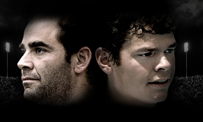 """Pete Sampras vs. Milos Raonic in """"The Face-Off presented by SAP""""  - Downtown Toronto: One Ticket to The Face-Off at The Air Canada Centre on November 17 at 7 p.m. Two Options Available."""