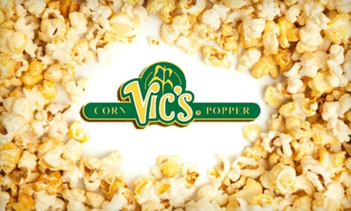 Vic's Corn Popper - Andover: $5 for $10 Worth of Regular or Gourmet-Flavored Popcorn at Vic's Corn Popper