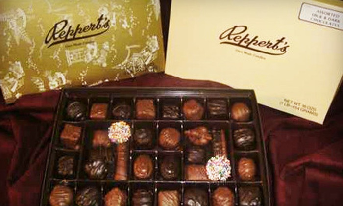Reppert's Candy - St. Lawrence: One- or Two-Pound Box of Regular Chocolates at Reppert's Candy in Oley (Up to 56% Off)