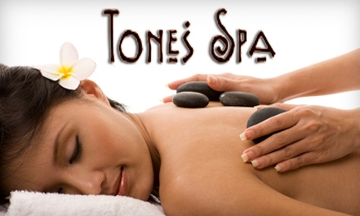Tones Spa - Middletown - Pelham Bay: $55 for Aromatherapy Meltaway Massage with Hot Stones or Infrared Body Wrap at Tones Spa in the Bronx ($125 Value)