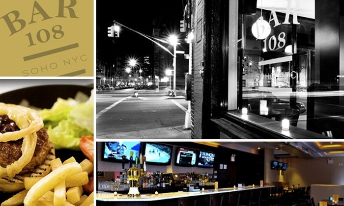 Bar 108 - Greenwich Village: $15 for $35 Worth of Food and Drinks at Bar 108