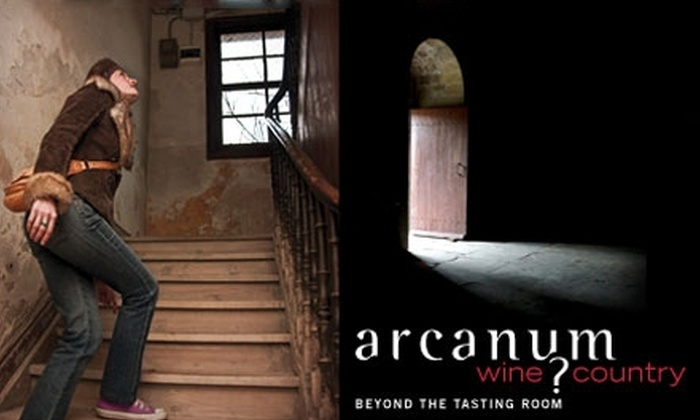 "Arcanum Wine Country - Sonoma: $32 for One Ticket to ""The Wrath of Grapes"" Murder-Mystery Wine Tour with Arcanum Wine Country in Sonoma ($65 Value)"
