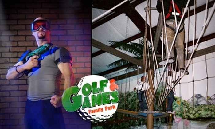 Golf & Games Family Park - Memphis: $9 for a Lasertron Session and Ropes-Course Session at Golf & Games Family Park ($18 Value)