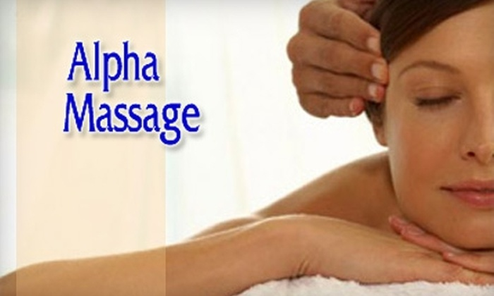 Alpha Massage - Portage: $20 for the 60-Minute Relaxation Massage at Alpha Massage in Portage ($55 Value)