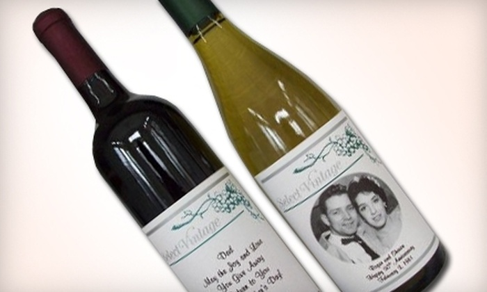 Select Vintage - White Bear Lake: $19 for a Bottle of Wine with a Custom Label at Select Vintage  in White Bear Lake ($41.93 Value)