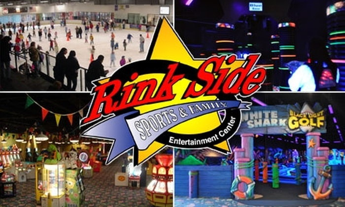 Rink Side Sports & Family Entertainment Center - Gurnee: $10 Pass to Your Choice of Laser Tag, Mini Golf, or Ice Skating with Skate Rental, Plus a $20 Game Card, at Rink Side Sports & Family (Up to $30 Value)