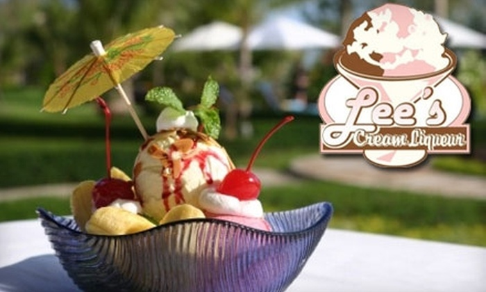Lee's Cream Liqueur - Downtown Scottsdale: $5 for $10 Worth of Liqueur Ice Cream at Lee's Cream Liqueur
