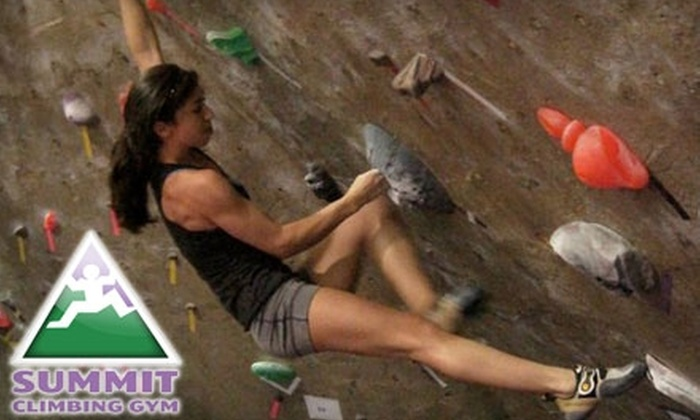 Summit Climbing Gym - Dallas: $35 for Five-Day Punch Card Pass (All Gear Included) at Summit Climbing Gym